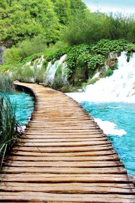 Väggdekor Sjön Plitvice magiska ride, Kroatien