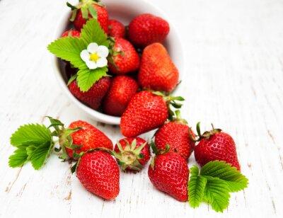 Väggdekor Skål med jordgubbar