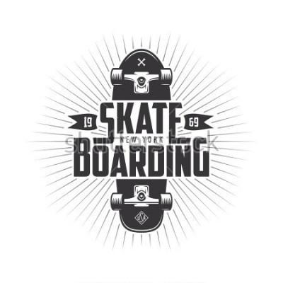 Väggdekor Skateboarding t-shirt design. Urban skating. Skateboard typography. Vector vintage illustration.