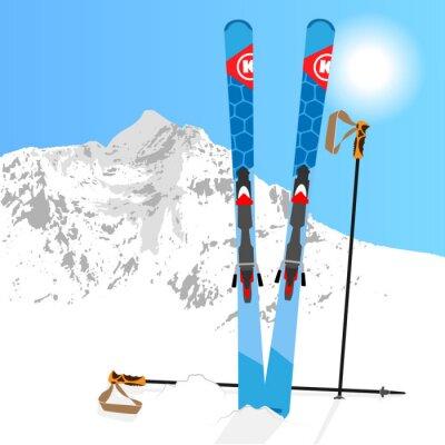 Väggdekor Ski and Snowboard vila 01