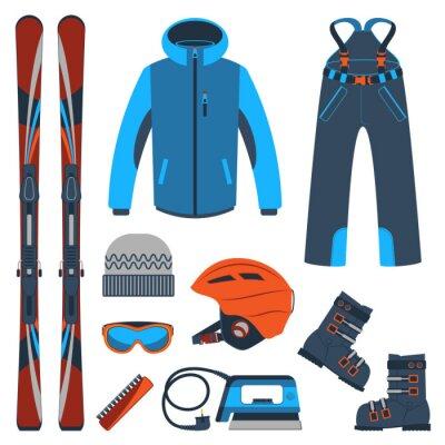 Väggdekor Skidåkning. Extrema vintersporter.
