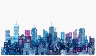 Väggdekor skiss stad