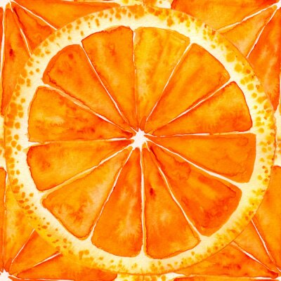 Väggdekor skivad apelsin eller grapefrukt