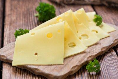 Väggdekor skivad ost