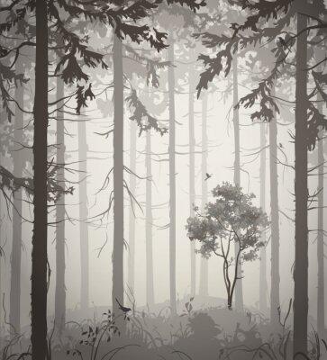 Väggdekor skog