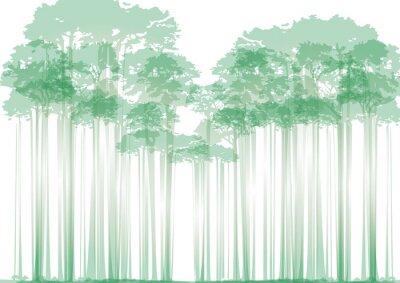 Väggdekor skog på neutral bakgrund
