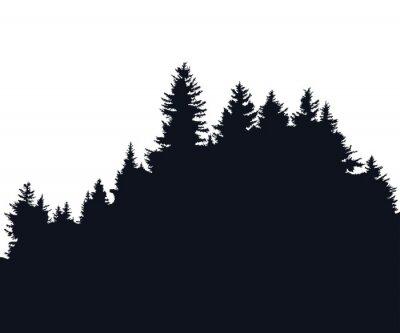 Väggdekor skog siluett