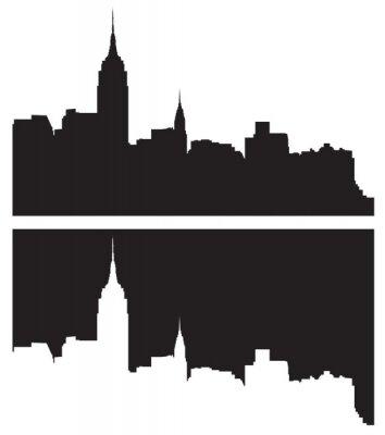 Väggdekor Skyline i New York City