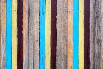Väggdekor slat färgrik