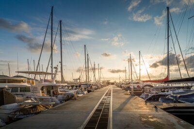 Väggdekor Småbåtshamnen soluppgång