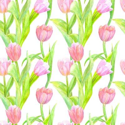 Väggdekor smidig konsistens med eleganta tulpaner för din design. akvarellmålning