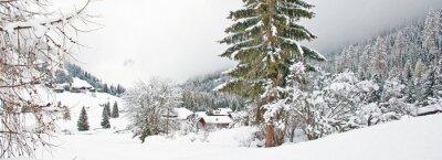 Väggdekor Snöig berg på vintern