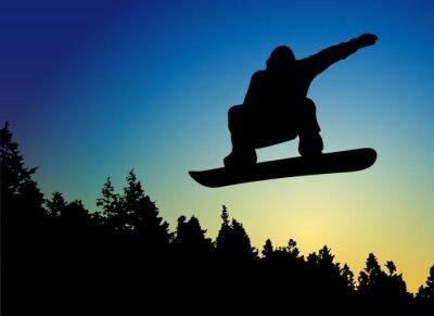Väggdekor Snowboard Jump