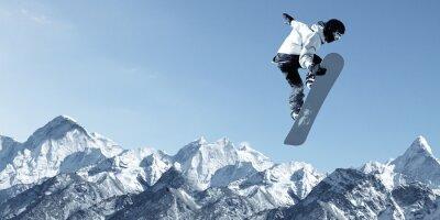 Väggdekor snowboard sport