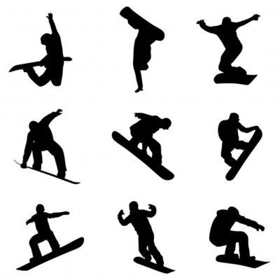Väggdekor snowboardåkare