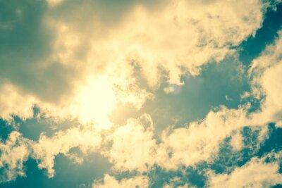 Väggdekor Solen bryter igenom molnen