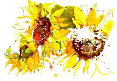 Väggdekor solrosor