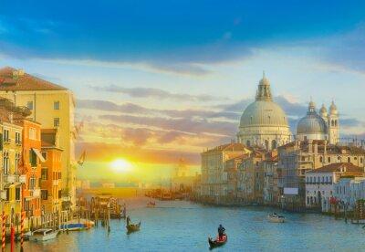Väggdekor Soluppgång i Venedig