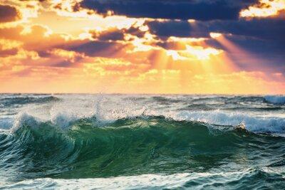 Väggdekor soluppgång Wave