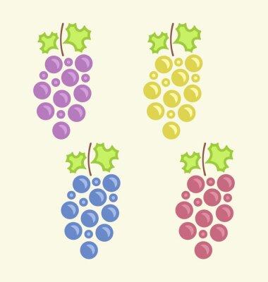 Väggdekor Som färgglada Klasar av Grape