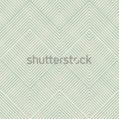Väggdekor Sömlös abstrakt geometrisk modell i turkos och beige på texturbakgrund. Ändlösa mönster kan användas för keramiska plattor, tapeter, linoleum, textil, webbsidabakgrund.