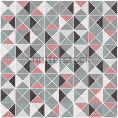 Väggdekor Sömlös raster geometrisk rombfärgmönsterbakgrund