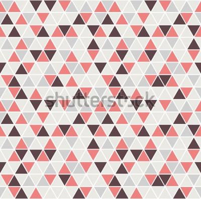 Väggdekor Sömlös triangelmönster. Vektor bakgrund. Geometrisk abstrakt konsistens