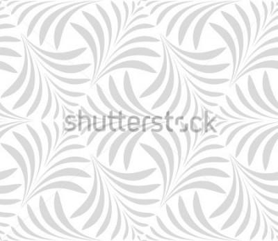 Väggdekor Sömlöst mönster. Blommig stilig bakgrund. Grå och vit prydnad. Grafiskt modernt mönster.