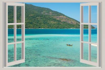 Väggdekor Sommar, resa, semester och Holiday koncept - Det öppna fönstret,