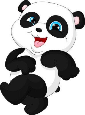 Väggdekor Söt funny baby panda