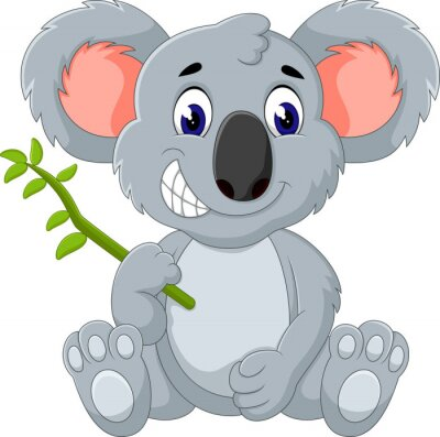 Väggdekor Söt koala tecknad av illustration