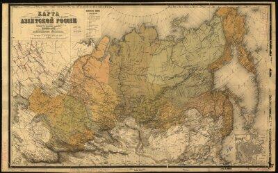 Väggdekor Sovjetunionen, Sovjetunionen, karta