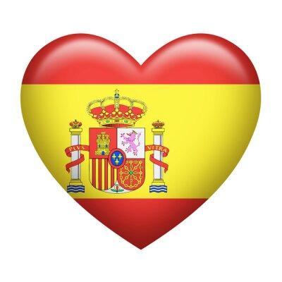 Väggdekor Spanska Insignia hjärtformade