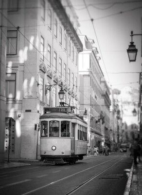 Väggdekor Spårvagn i Lissabon, retro