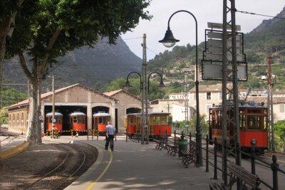 Väggdekor Spårvagnar i Baracker Soller Mallorca