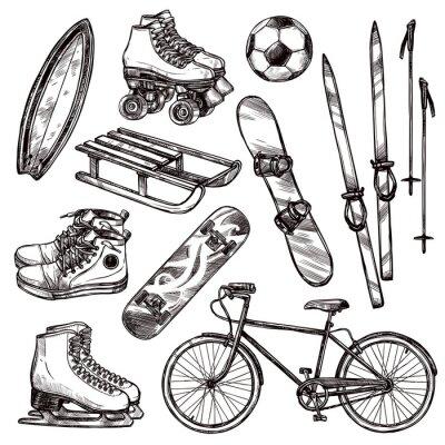 Väggdekor Sport Equipment Set
