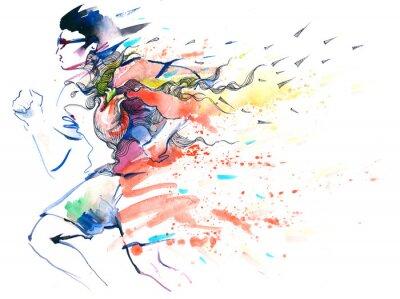 Väggdekor sport löpning