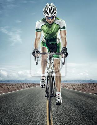 Väggdekor Sport. Väg cyklist.