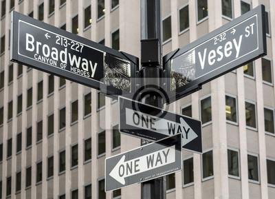 Väggdekor Staden New York på Manhattan, USA.