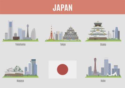 Väggdekor Städer i Japan