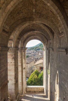 Väggdekor Stadsbild av Gubbio nära Perugia (Italien)