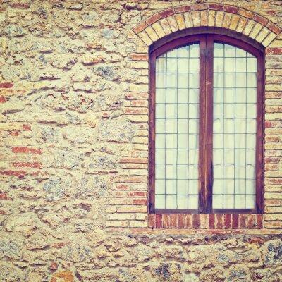 Väggdekor stängt fönster