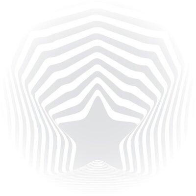 Väggdekor Star grå ränder optisk illusion bildkonst effekt.