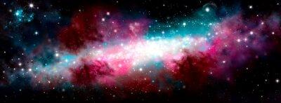 Väggdekor Star nebula birth of a galaxy. The birth of the galaxy. Shining stars. Star nebula. Cluster of stars. The night starry sky. Space background. Spase. Universe