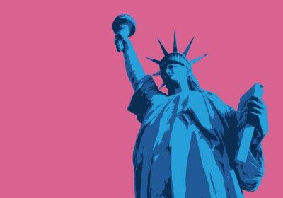 Väggdekor Statue de la Liberte - New York - symbol, amerikansk - dekoration - déco - fond