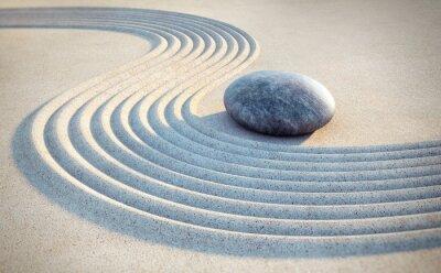 Väggdekor Sten och linjer i sanden