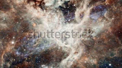 Väggdekor Stjärnhimmel för nebulatten i färger. Multicolor yttre rymden. Djupa rymden många ljusår långt från planeten Jorden. Delar av denna bild från NASA
