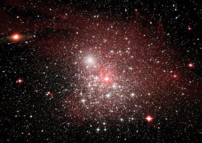 Väggdekor Stjärnor, damm och gasnebula i en galax