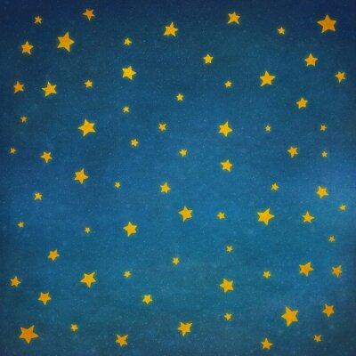 Väggdekor Stjärnorna på natthimlen, bakgrund illustration konst