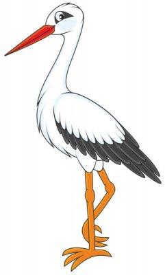 Väggdekor Stork